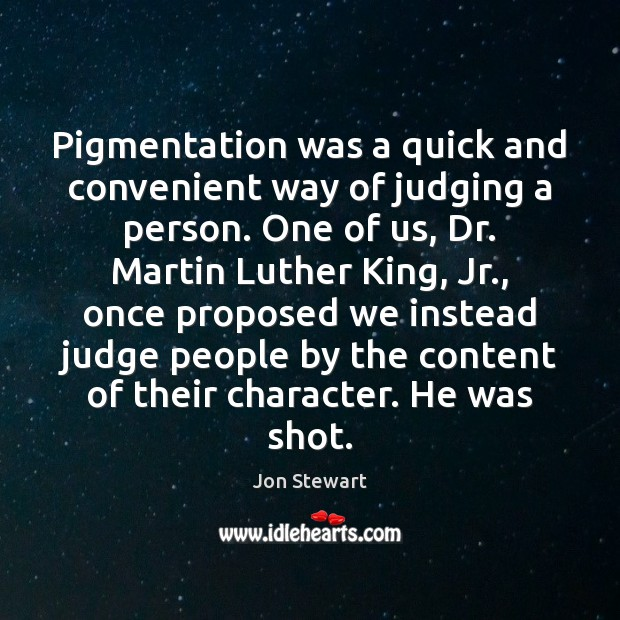 Image, Pigmentation was a quick and convenient way of judging a person. One