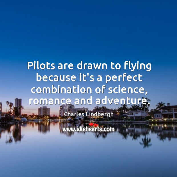 Pilots are drawn to flying because it's a perfect combination of science, Image