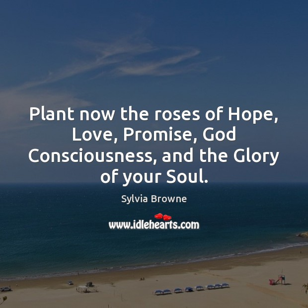 Plant now the roses of Hope, Love, Promise, God Consciousness, and the Glory of your Soul. Image