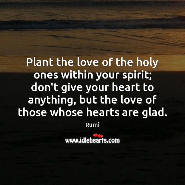 Plant the love of the holy ones within your spirit; don't give Image