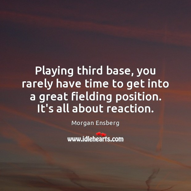 Playing third base, you rarely have time to get into a great Image