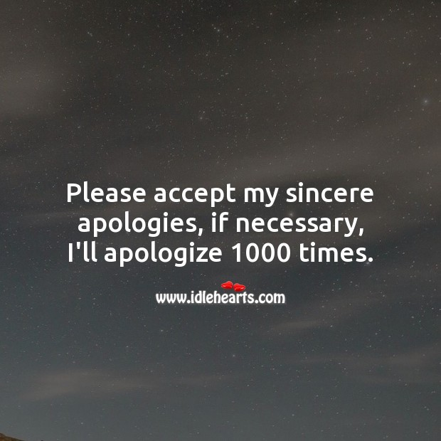 Please accept my sincere apologies. Sorry Messages Image