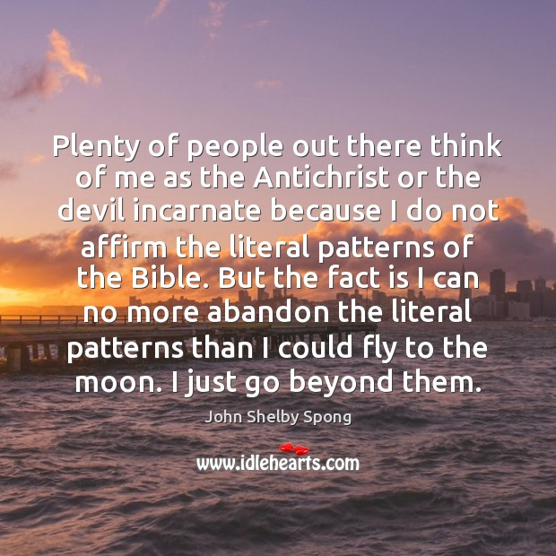 Plenty of people out there think of me as the Antichrist or Image