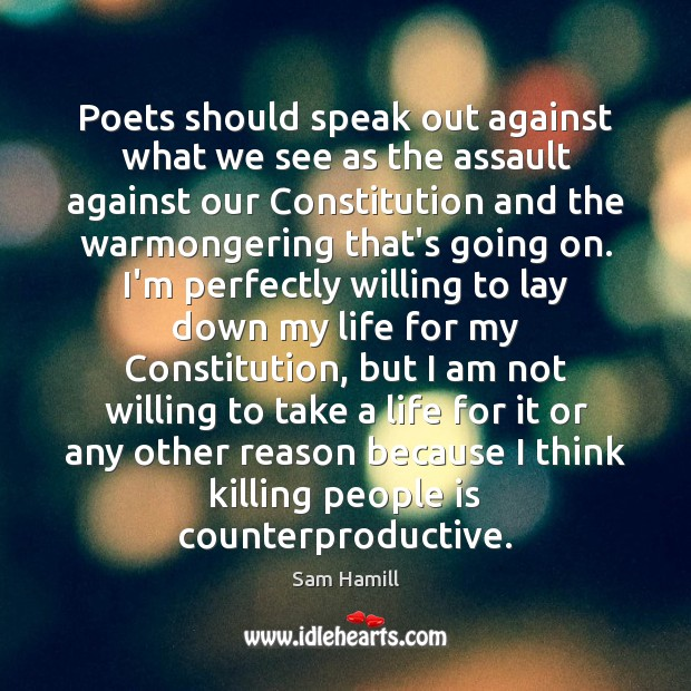 Poets should speak out against what we see as the assault against Image