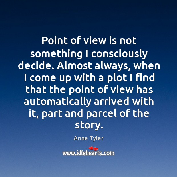 Image, Point of view is not something I consciously decide. Almost always, when