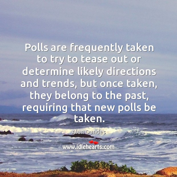 Image, Polls are frequently taken to try to tease out or determine likely directions and trends