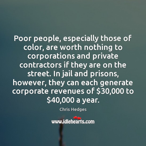 Image, Poor people, especially those of color, are worth nothing to corporations and