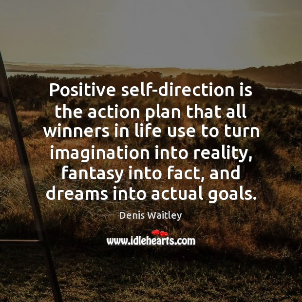 Positive self-direction is the action plan that all winners in life use Denis Waitley Picture Quote