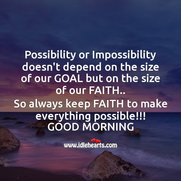 Image, Possibility or impossibility doesn't depend