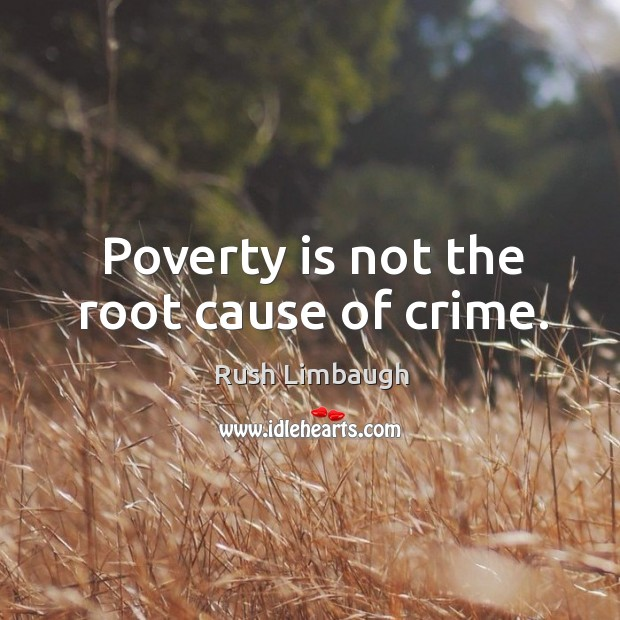 poverty as a cause of crime