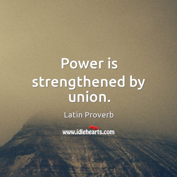 Image, Power is strengthened by union.