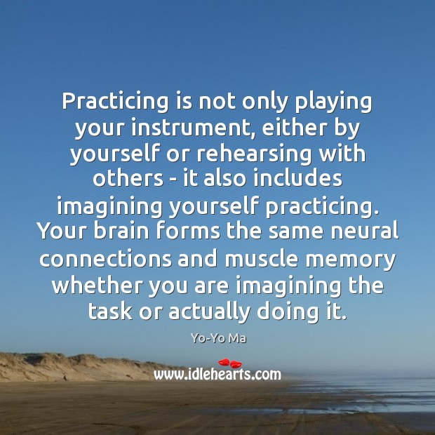 Practicing is not only playing your instrument, either by yourself or rehearsing Image