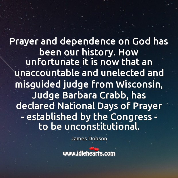 Image, Prayer and dependence on God has been our history. How unfortunate it