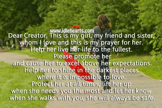 My prayer for my little girl. Image