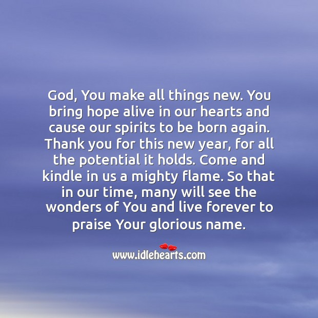 Prayer for New Year! Praise Quotes Image