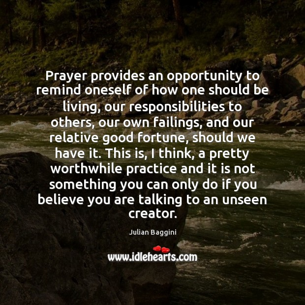 Image, Prayer provides an opportunity to remind oneself of how one should be