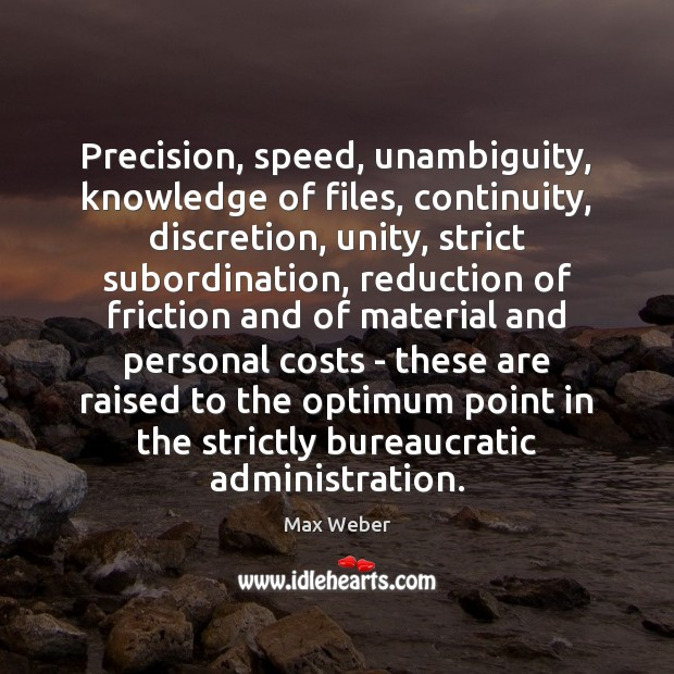 Precision, speed, unambiguity, knowledge of files, continuity, discretion, unity, strict subordination, reduction Image