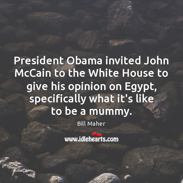 Image, President Obama invited John McCain to the White House to give his