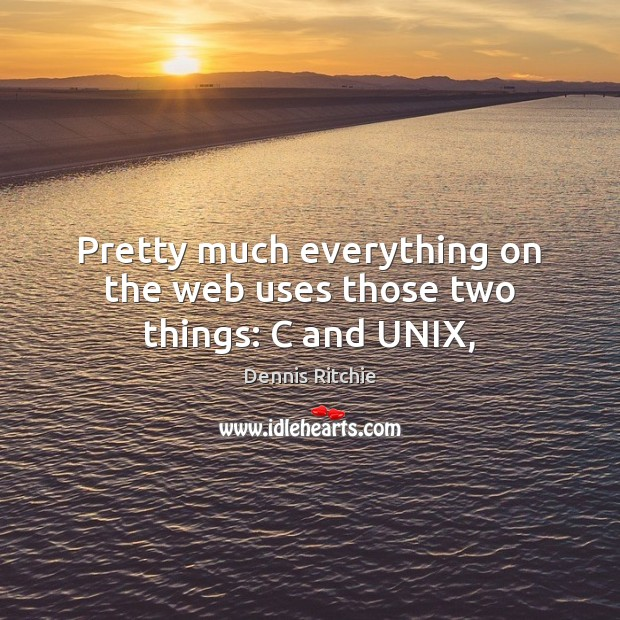 Pretty much everything on the web uses those two things: C and UNIX, Image