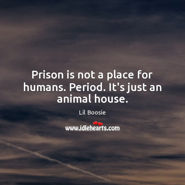 Image, Prison is not a place for humans. Period. It's just an animal house.
