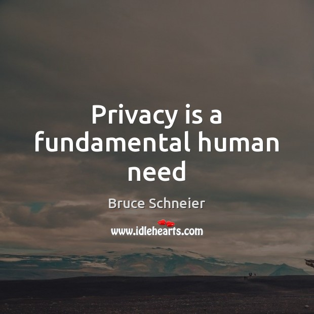 Image, Privacy is a fundamental human need
