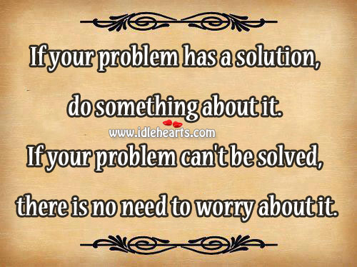 If your problem has a solution Image
