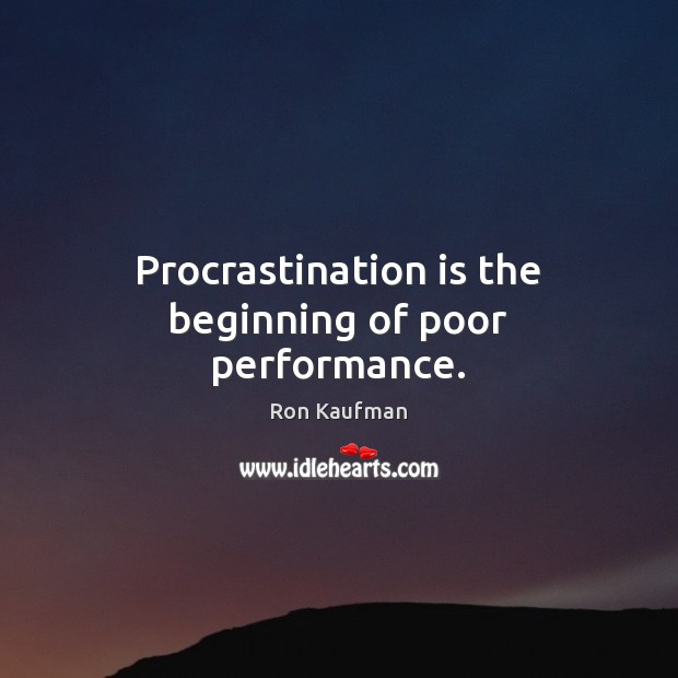 Procrastination Quotes
