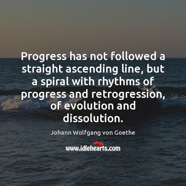 Image, Progress has not followed a straight ascending line, but a spiral with