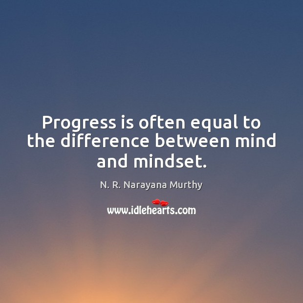 Progress is often equal to the difference between mind and mindset. Image