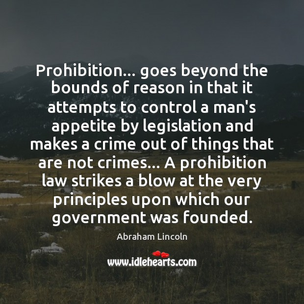Image, Prohibition… goes beyond the bounds of reason in that it attempts to