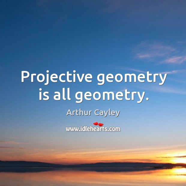 Image, Projective geometry is all geometry.