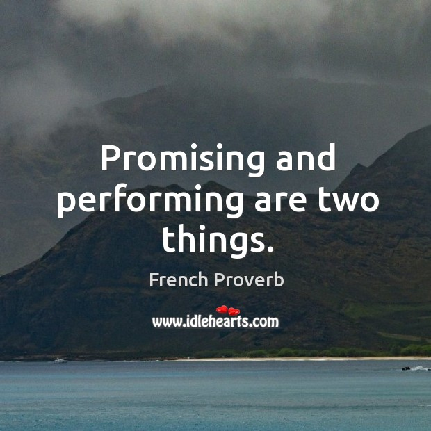 Image, Promising and performing are two things.