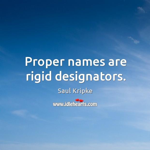 Proper names are rigid designators. Image