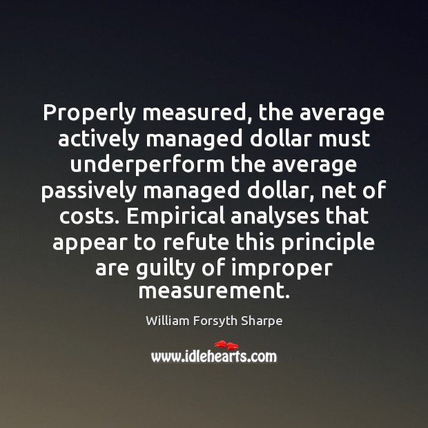 Image, Properly measured, the average actively managed dollar must underperform the average passively