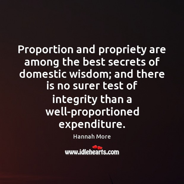 Proportion and propriety are among the best secrets of domestic wisdom; and Image