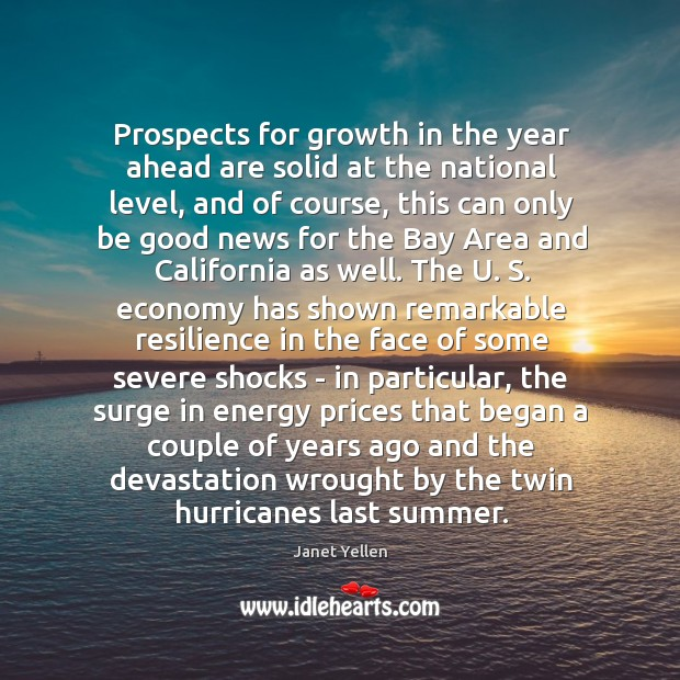 Prospects for growth in the year ahead are solid at the national Image