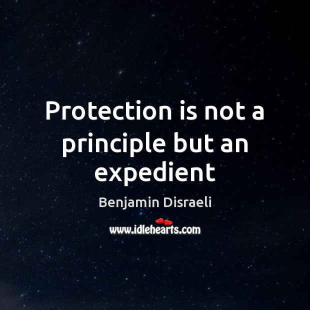 Protection is not a principle but an expedient Image