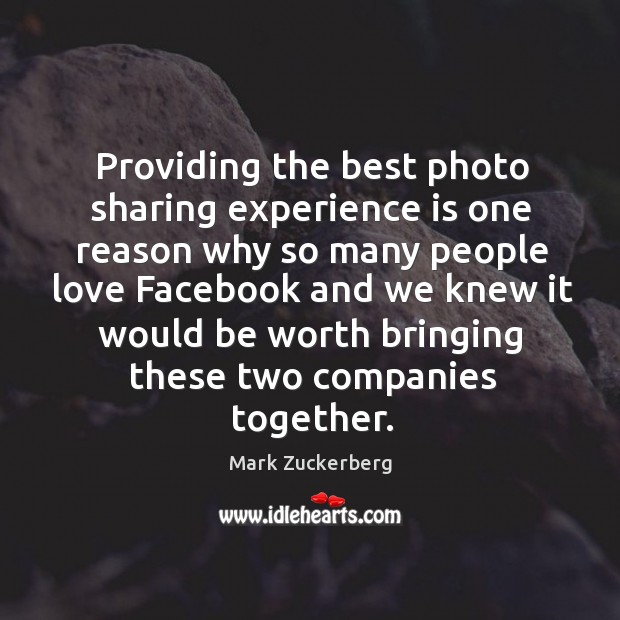 Providing the best photo sharing experience is one reason why so many Image
