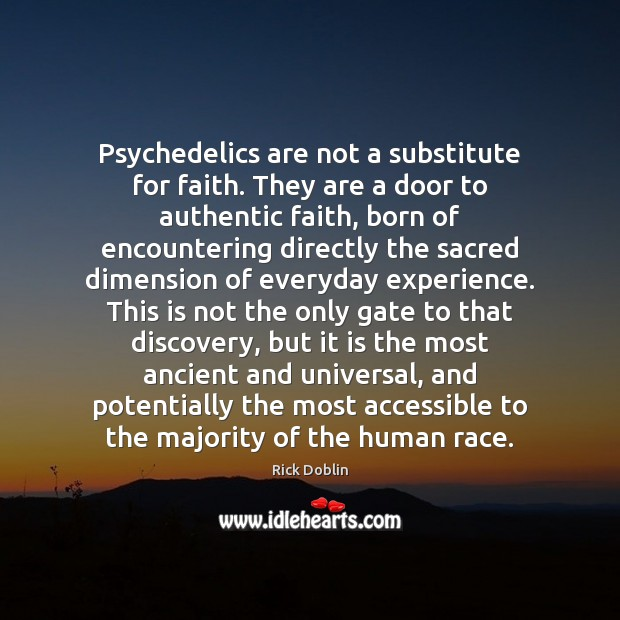 Psychedelics are not a substitute for faith. They are a door to Image