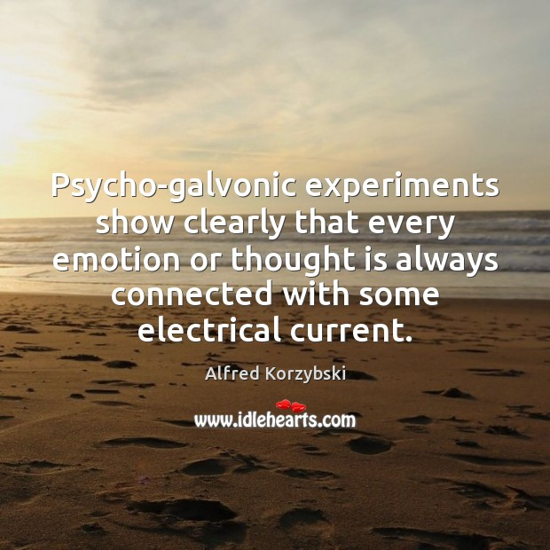 Image, Psycho-galvonic experiments show clearly that every emotion or thought is always connected