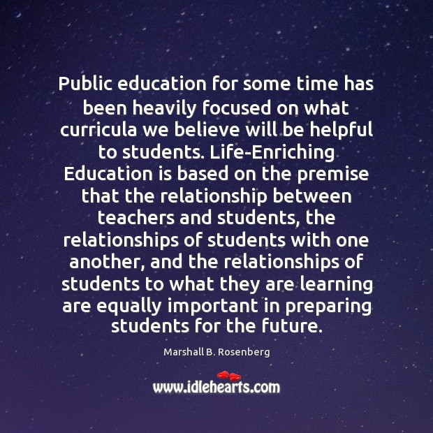 Public education for some time has been heavily focused on what curricula Image