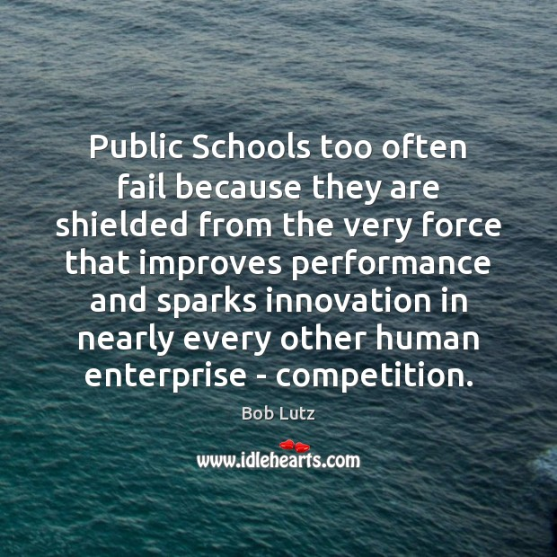 Image, Public Schools too often fail because they are shielded from the very