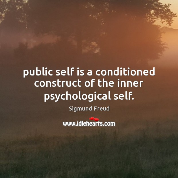 Public self is a conditioned construct of the inner psychological self. Image