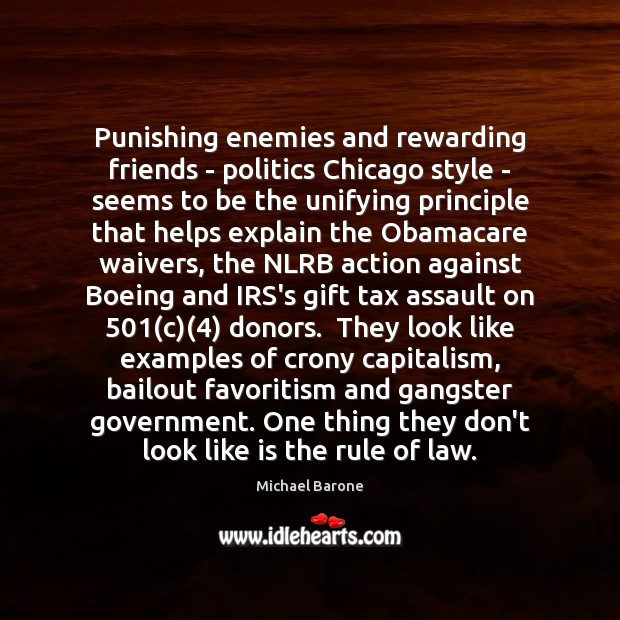 Image, Punishing enemies and rewarding friends – politics Chicago style – seems to
