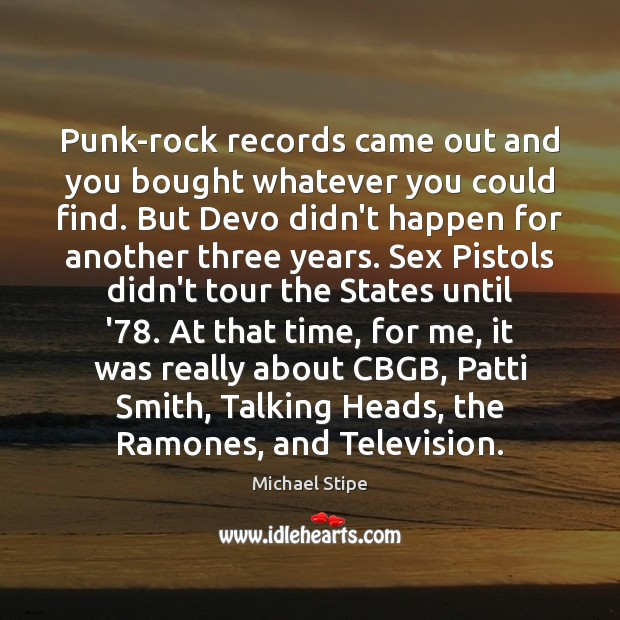 Punk-rock records came out and you bought whatever you could find. But Image