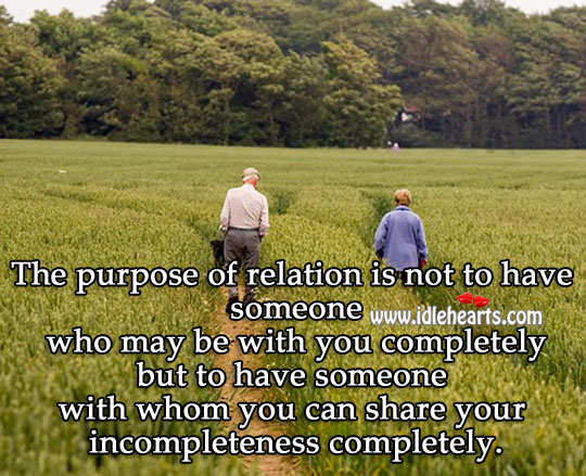 The Purpose Of Relation