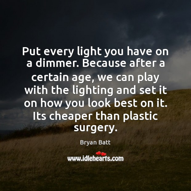 Put every light you have on a dimmer. Because after a certain Image