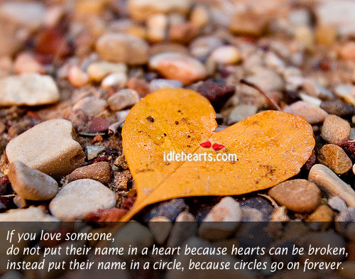 If you love someone…