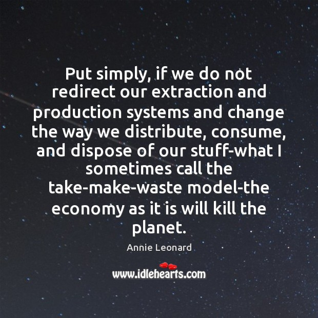 Image, Put simply, if we do not redirect our extraction and production systems