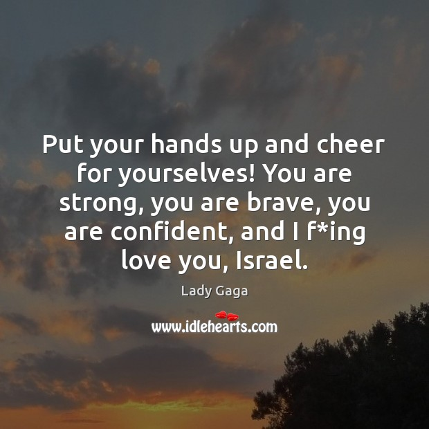 Image, Put your hands up and cheer for yourselves! You are strong, you